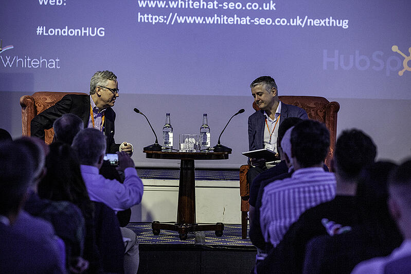 Brian Halligan CEO HubSpot talking at the Whitehat London HUG event
