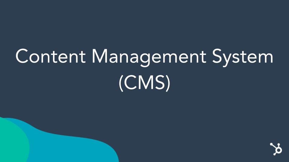 CMS Hub Header. Navy blue screen with CMS Hub Title