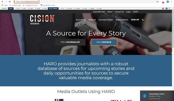 HARO Media Outlets List