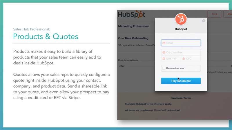 Sales Hub Products And Quotes