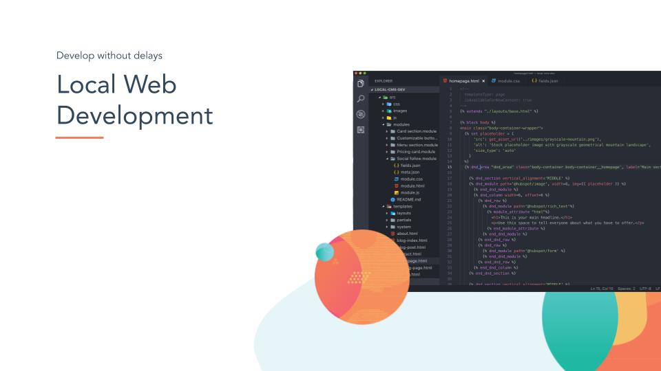 HubSpot CMS Local web development, CLI, new tools, developers dream