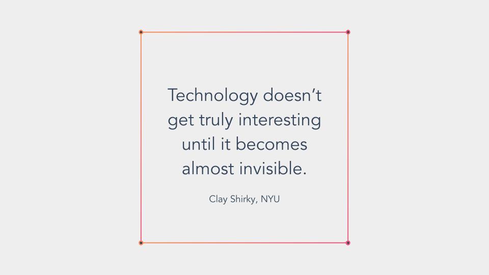 Technology shift quote, Clay Shirky, NYU