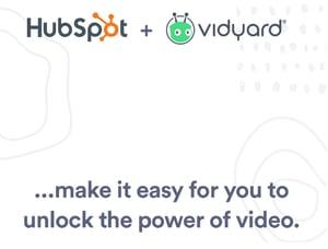 vidyard + hubspot